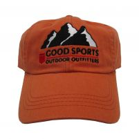 Good Sports Twill 6-Panel Cap - Pumpkin