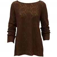 Dylan  Stretch Lace Long Sleeve Crew - Women's