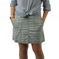Purnell  Striped Denim Skirt - Women's