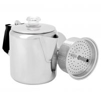 GSI Outdoors Glacier Stainless Steel 6 Cup Percolator with Silicone Handle