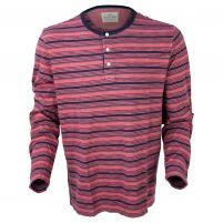 True Grit Indigo Knit Long Sleeve Henley - Men's