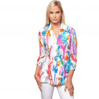 Sno Skins Flower Power Button Down Shirt- Women's