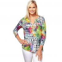 Sno Skins Rain Forest V-Neck Top-Women's