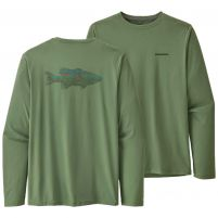 Patagonia Long-Sleeved Capilene Cool Daily Fish Graphic Shirt (Past Season) - Men's