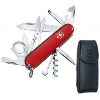Victorinox Swiss Army Explorer Knife w/ Pouch - Red