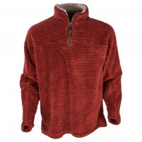 True Grit Luxe Shearling Stripe Quarter-Zip Pullover - Men's