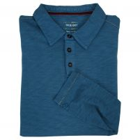 True Grit Modern Slub Long Sleeve Polo - Men's