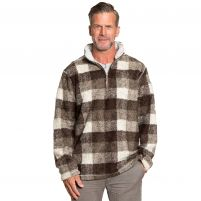 True Grit Melange Buffalo Plaid Quarter-Zip Pullover - Men's