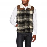 True Grit Melange Buffalo Plaid Vest - Men's