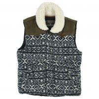 True Grit Frosty Pile Tribal Print Vest - Men's