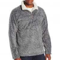 True Grit Frosty Cord Pile Quarter-Zip Pullover - Men's