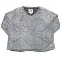 Dylan Simple Sherpa V-Neck Top - Women's