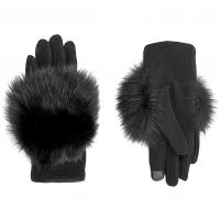 Mitchie's Matchings Knit Gloves w/ Fox Trim - Women's
