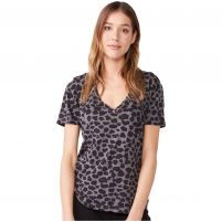 Monrow Leopard Relaxed V Top- Women's