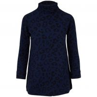 Kinross Cashmere Leopard Funnel Neck Sweater - Women's