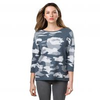 Kinross Cashmere Camo Pullover-Women's