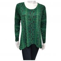 Nally & Millie Reptile Print Top - Women's
