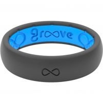 Groove Life Thin Deep Stone Silicone Ring