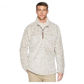 True Grit Frosty Tipped Pile Quarter-Zip Pullover - Men's