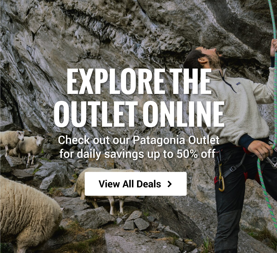Save up to 50% off Patagonia when you shop the Outlet