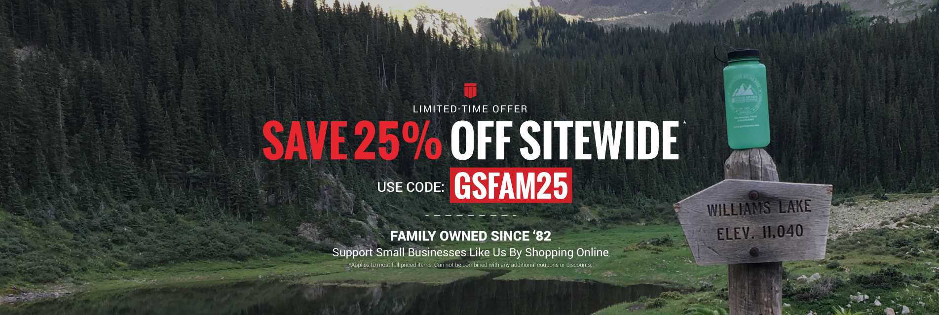 Save 25% Sitewide on most full priced items with code GSFAM25